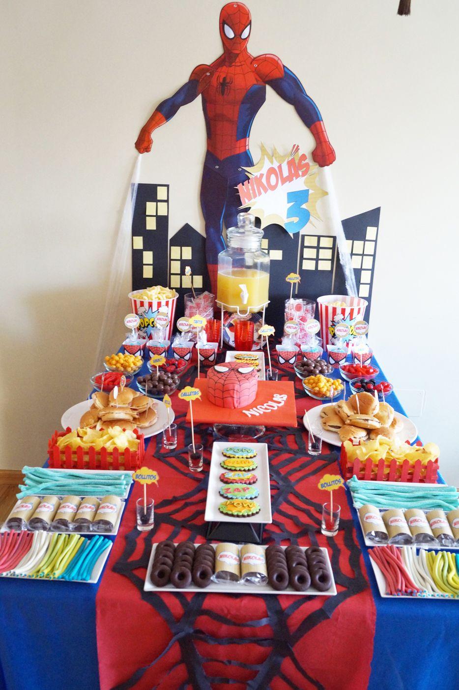 Mesa dulce spiderman mesas dulces nuestras cumplea os for Mesas de dulces infantiles