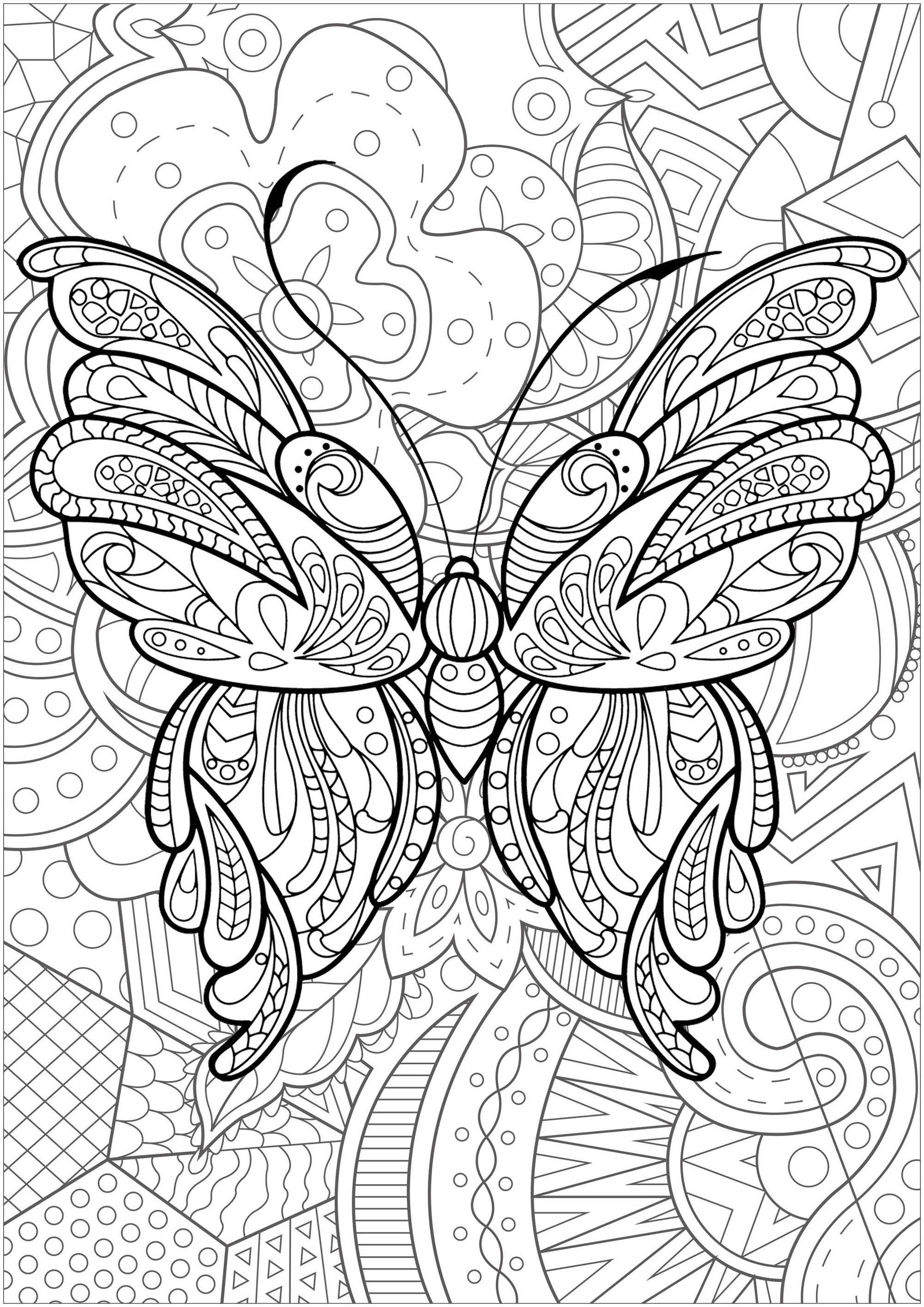 Pin On Adult Coloring Pages [ 2828 x 2000 Pixel ]