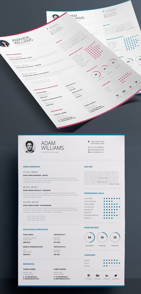 clean resume 7 word indesign creative resume business cards
