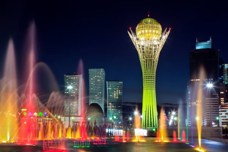 Kazakhstan might be best known for its nomadic roots, but its new capital city, Astana, is making waves with a surrealist skyline. When the government moved the capital to this small city on the northern steppe in 1997, it was essentially a tiny outpost. But nowadays, the skies here glitter with obscurely-tilted glass and wavy gold towers.