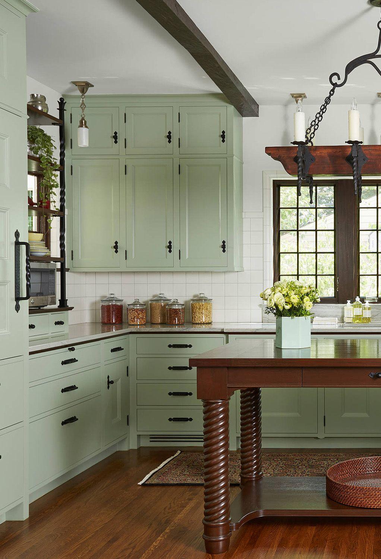 34 Top Green Kitchen Cabinets Good For Kitchen Get Ideas In 2020 Green Kitchen Cabinets Green Kitchen Sage Green Kitchen