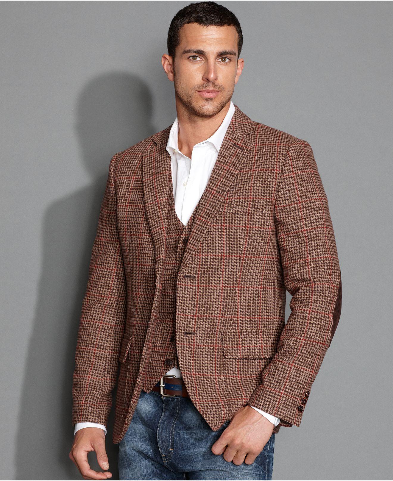 Tommy Hilfiger Jacket, Huntley Wool Blazer - Blazers & Sport Coats ...