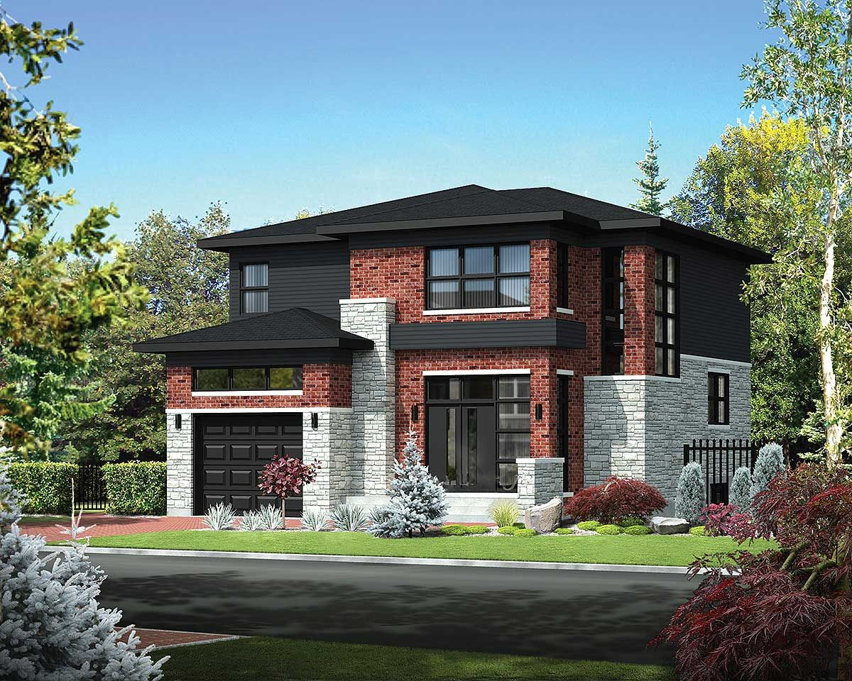 Plan 80847pm Two Story Northwest House Plan Modern Style House Plans Contemporary Style Homes Small House Floor Plans