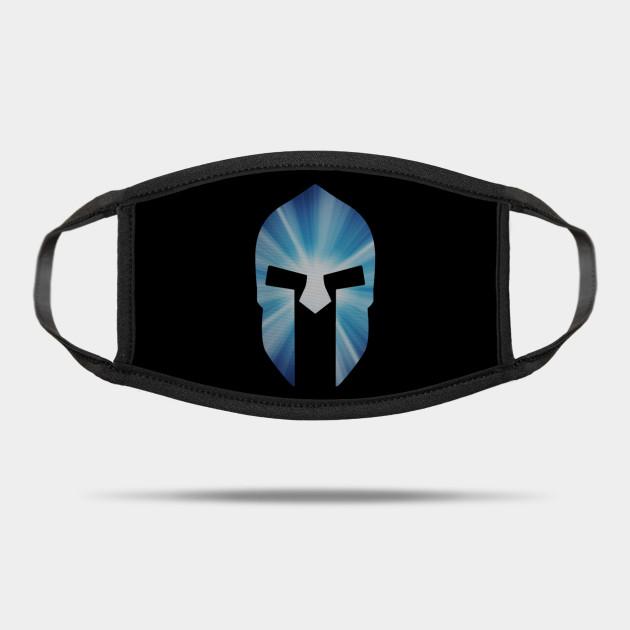 Blue Spartan War Helmet Blue Spartan War Helmet From Greek Myth Mask Teepublic Blue Face Mask Helmet