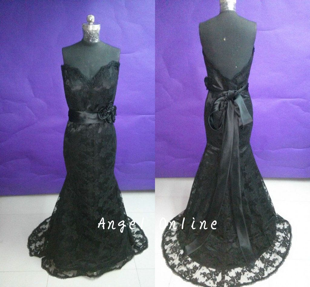 Memorial day Sale Lace Evening Dresses-Evening Dress For Women-Black ...