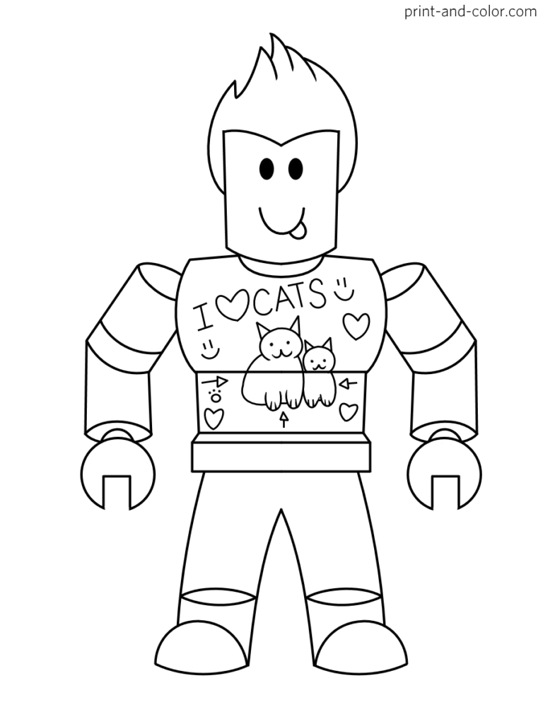 Roblox Coloring Pages Print And Color Com Cute Coloring Pages Pirate Coloring Pages Cartoon Coloring Pages