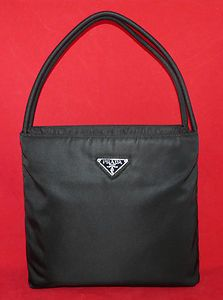 Authentic Prada Tessuto Nylon Black City Tote Shoulder Bag Handbag Purse Ebay