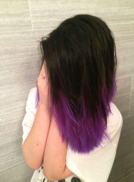 Siyahtan Mora Ombre Saç Modeli Ve Fiyatı Saç Renkleri Ve Saç