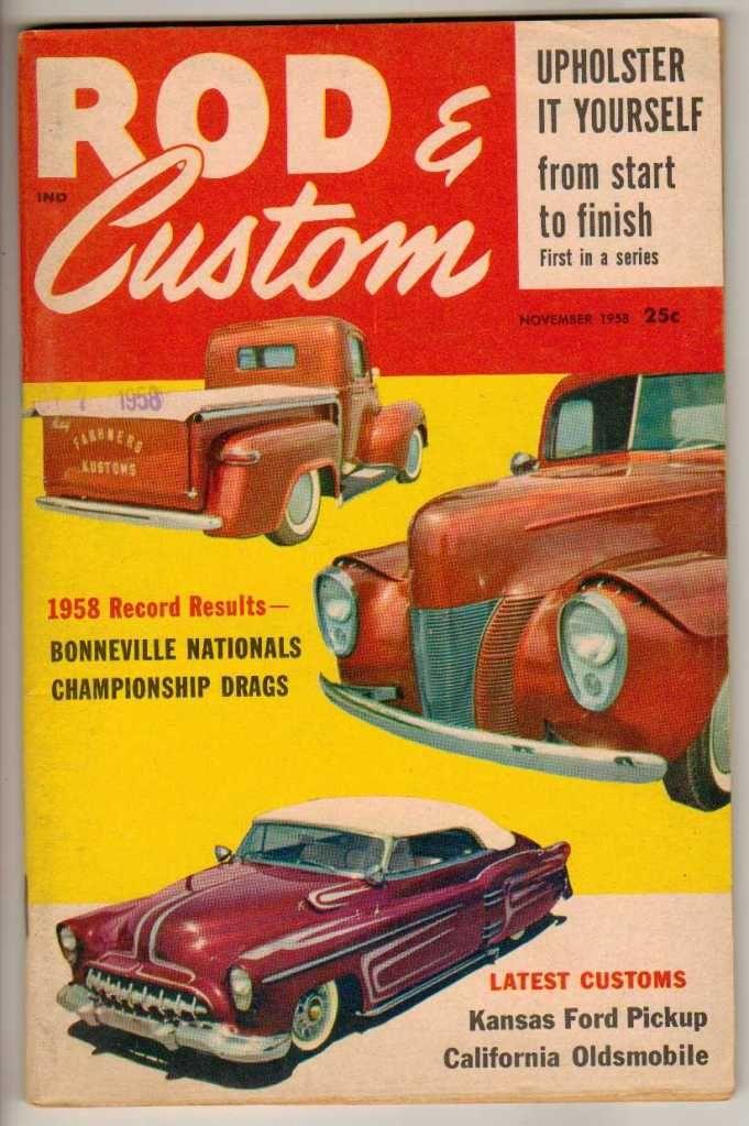 Rod & Custom November 1958 Old Vintage Classic Car Magazine Ford ...