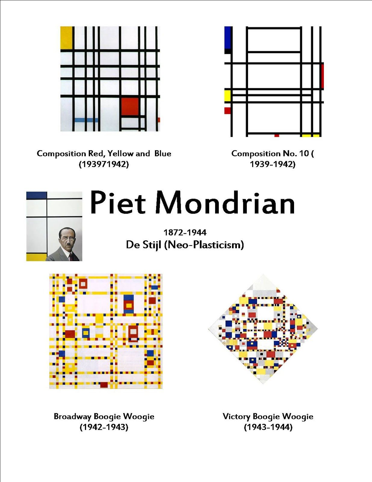 Piet Mondrian And Easy Going Art Study With An Spd