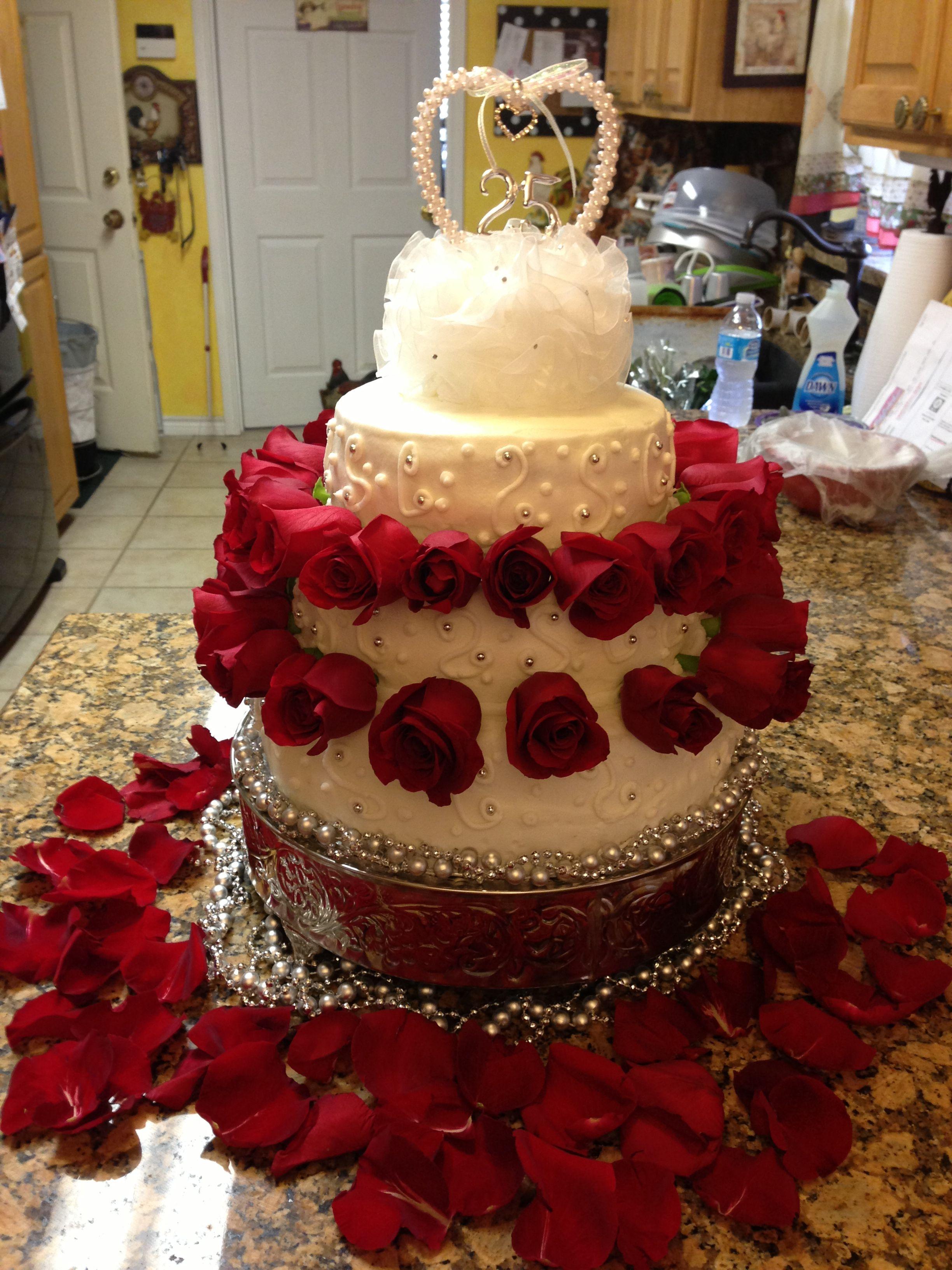 25th Wedding Anniversary Cake! ウェディングケーキ