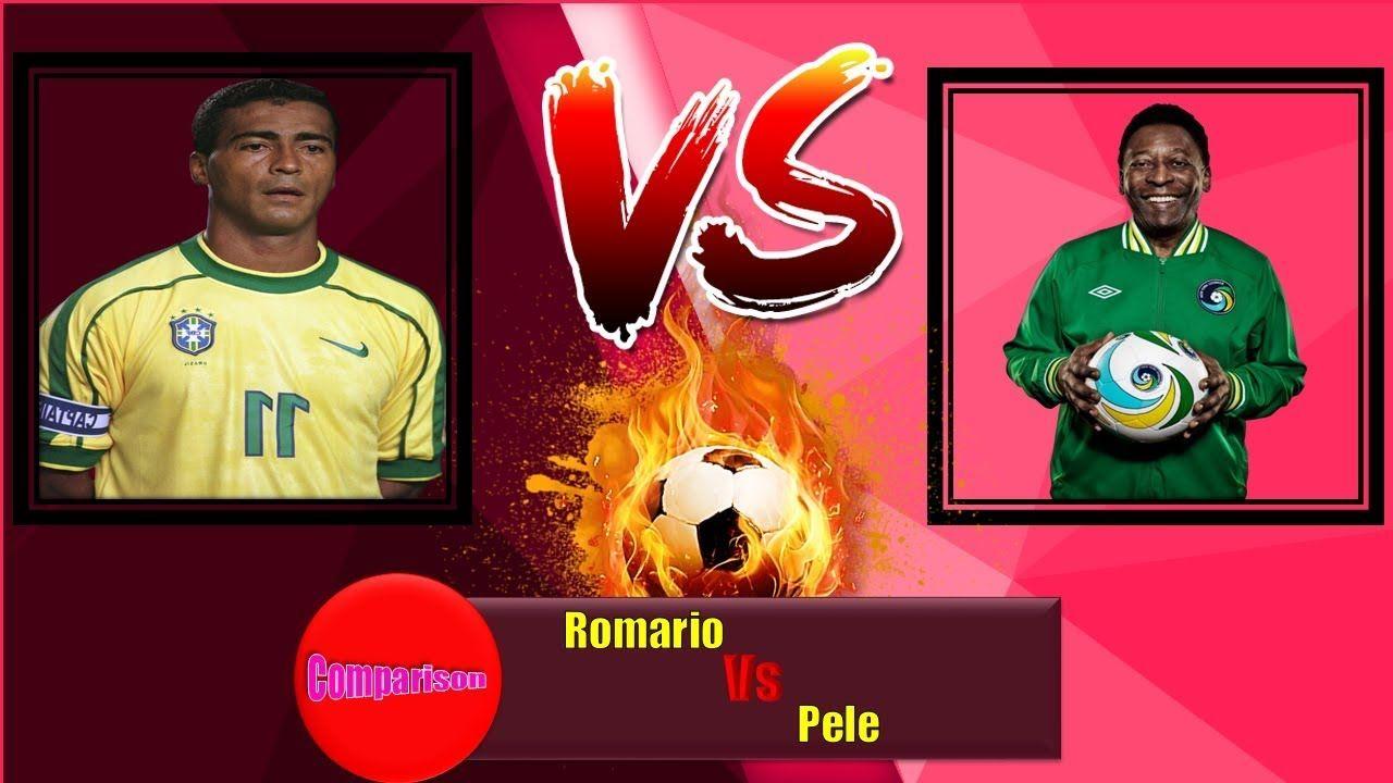 Romario Vs Pele Career World Cupmatchgoalassistawardcardstrophy