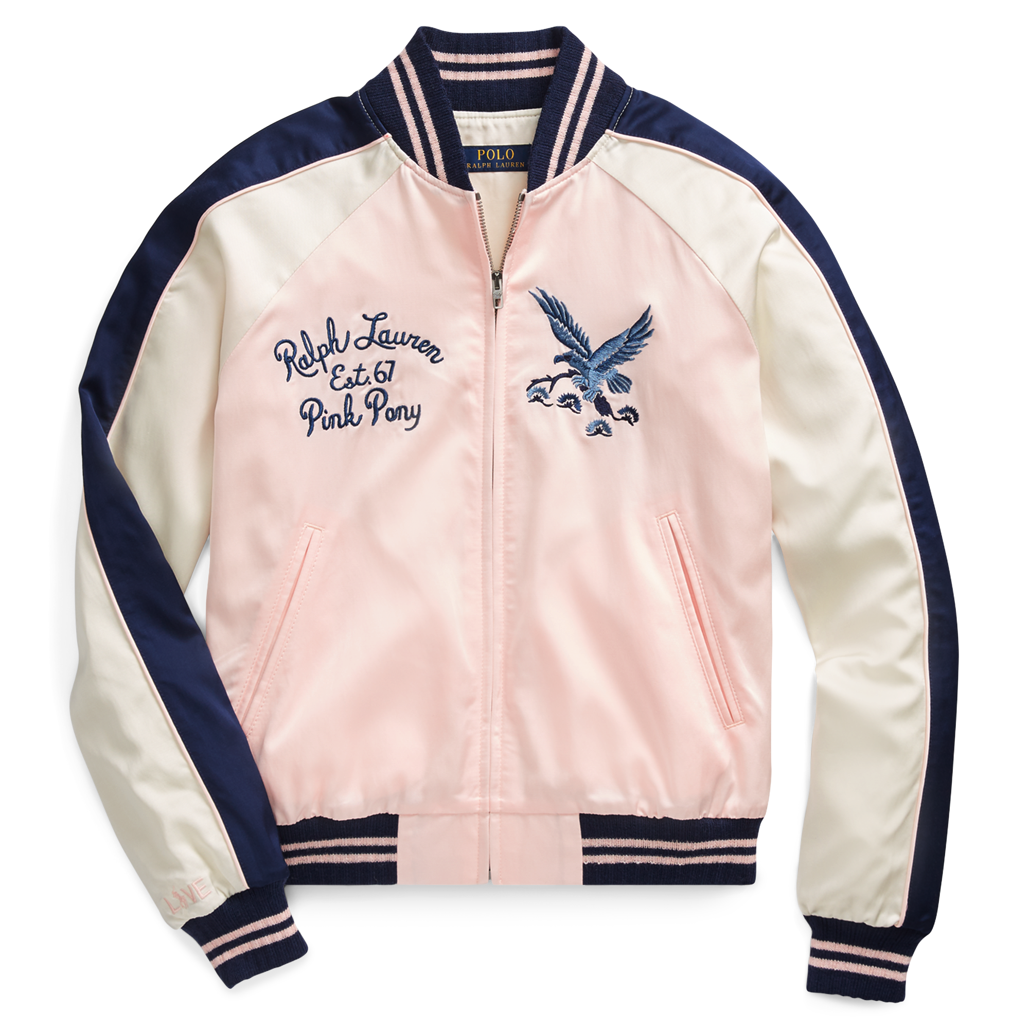 Ralph Lauren Pink Pony Satin Bomber Jacket Love Pink Satin Bomber Jacket Pink Bomber Jacket Jackets [ 2000 x 2000 Pixel ]