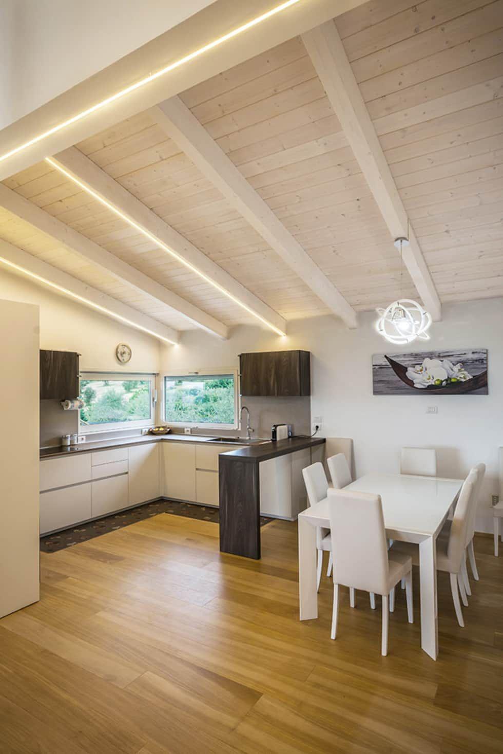 casa in legno perugia sala da pranzo in stile di