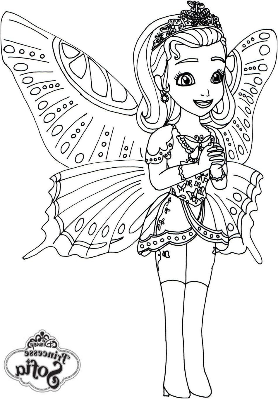 Coloriage Princesse Sofia Papillon Coloriageprincesse