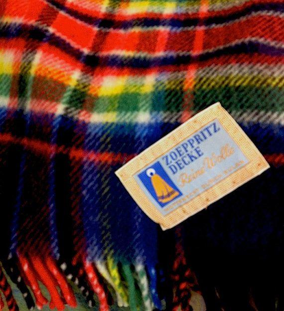 Rare Vintage Zoeppritz Decke Luxury Wool By Eclecticcactusstudio