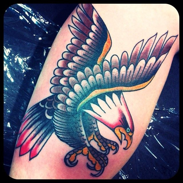 timothylebron: eagle done at the 2014 Philly tattoo Convention. sorry for the bad photo.