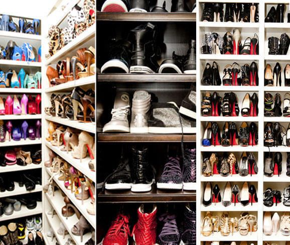 Khloe Kardashians Shoe Closet Is Every Girls Dream
