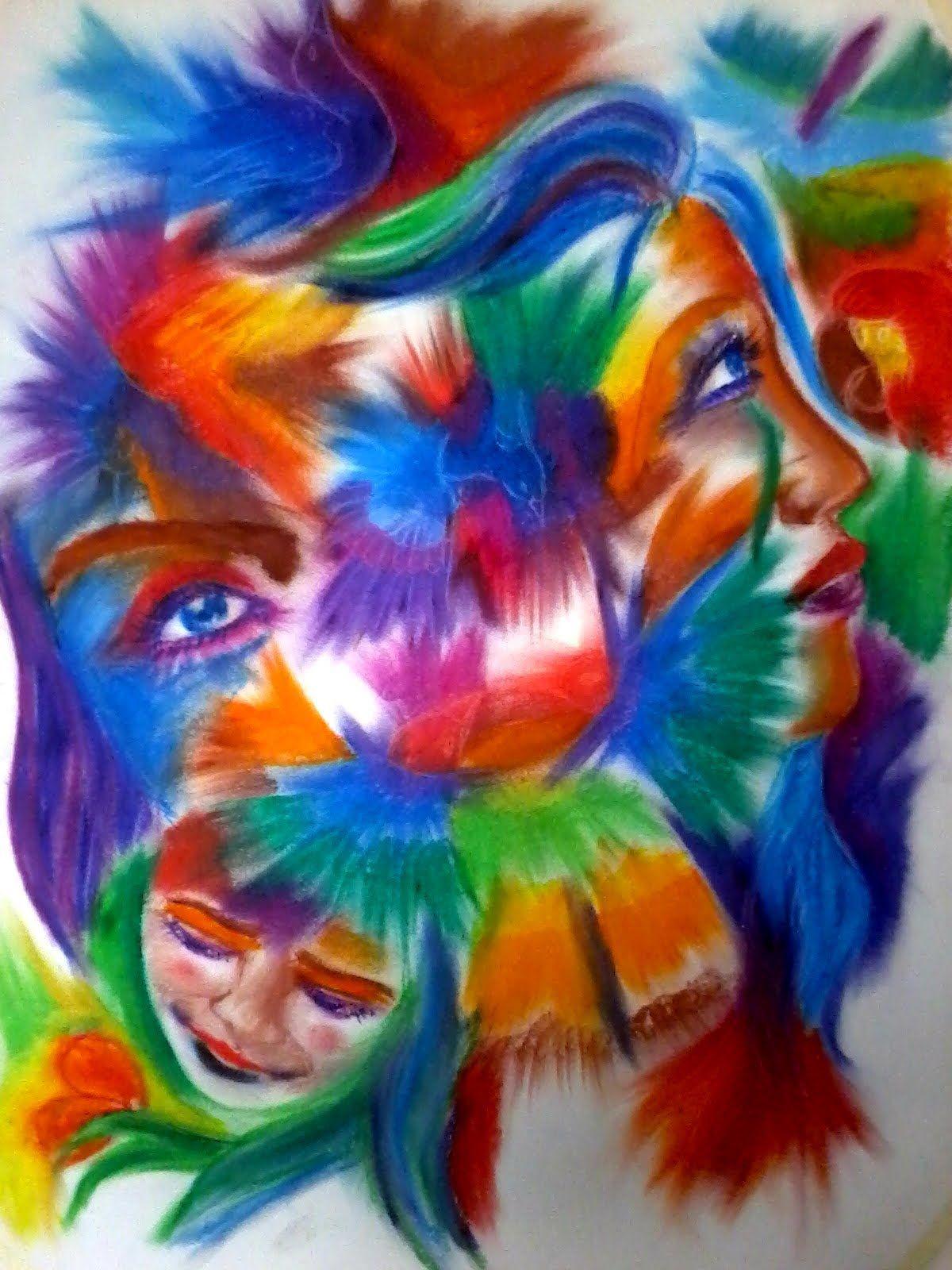 Abstract Oil Pastel Drawing Sedera Ramanitra