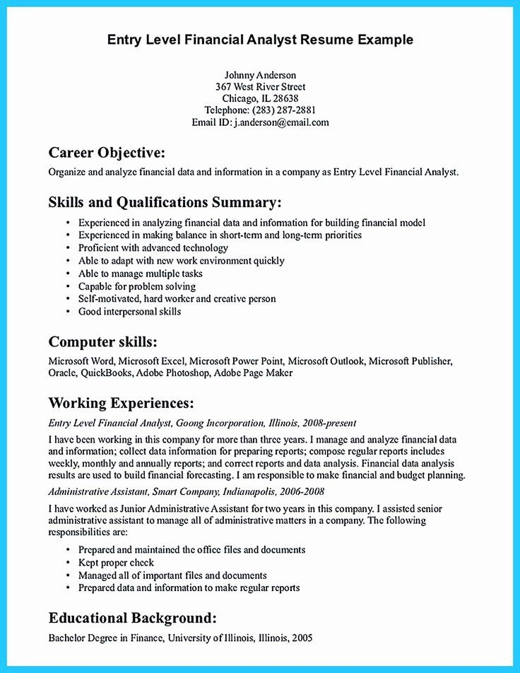 20 Entry Level Analyst Resume in 2020 Resume objective