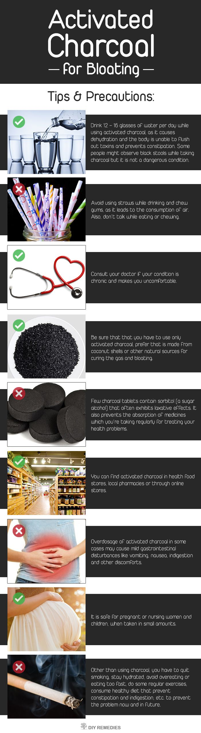activated charcoal for bloating holistic remedies pinterest