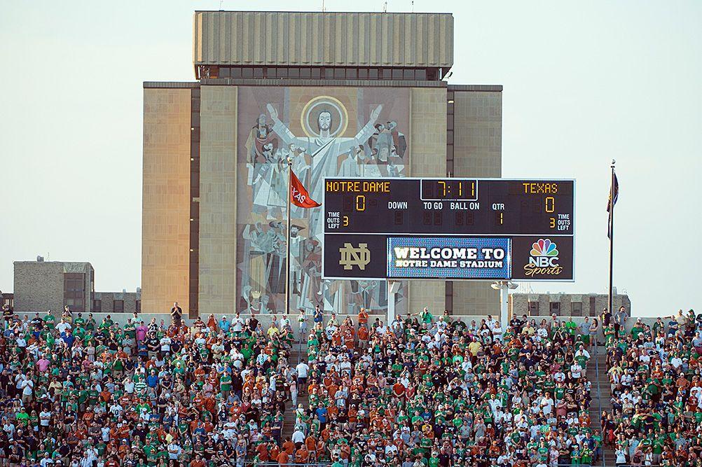 Notre Dame Stadium scoreboard Stadium, Notre dame, Dame