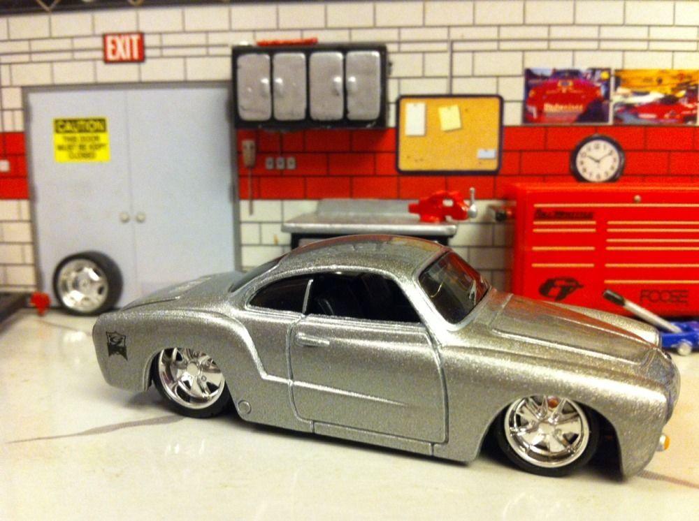 1966 Vw Volkswagen Karmann Ghia Jada Dub City Maisto 1/64 Loose