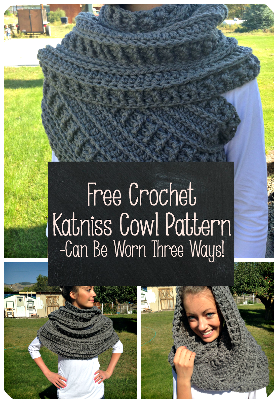 How to make 41 easy and fun infinity scarves wear them crochet katniss cowl collage thefriendlyredfox bankloansurffo Images