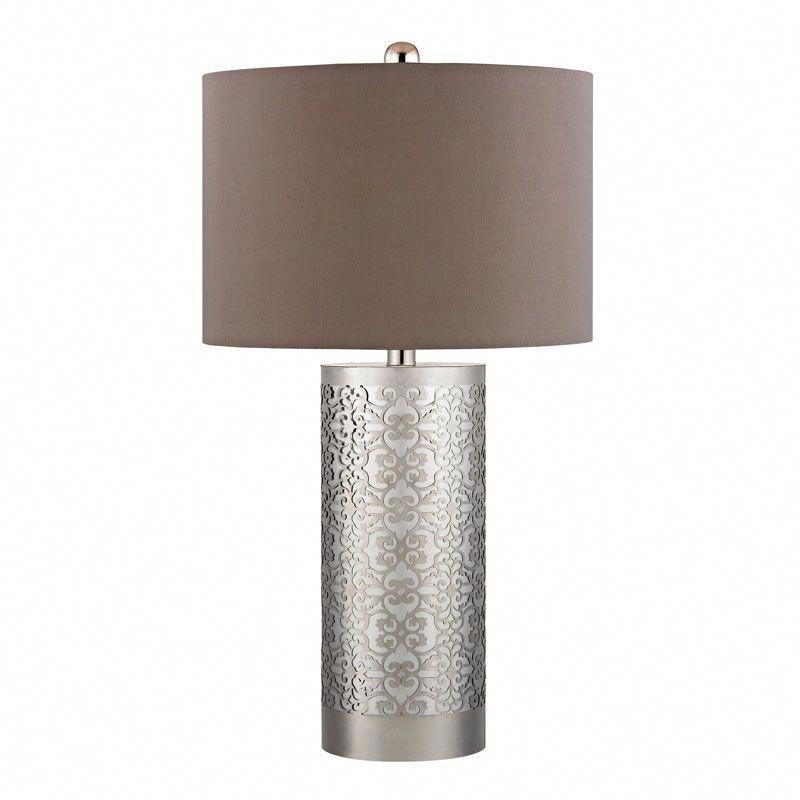 Dimond Lighting D336 Metal Filigree Table Lamp In Polished Nickel Polished Nickel Modernlamps Led Table Lamp Nickel Table Lamps Table Lamp