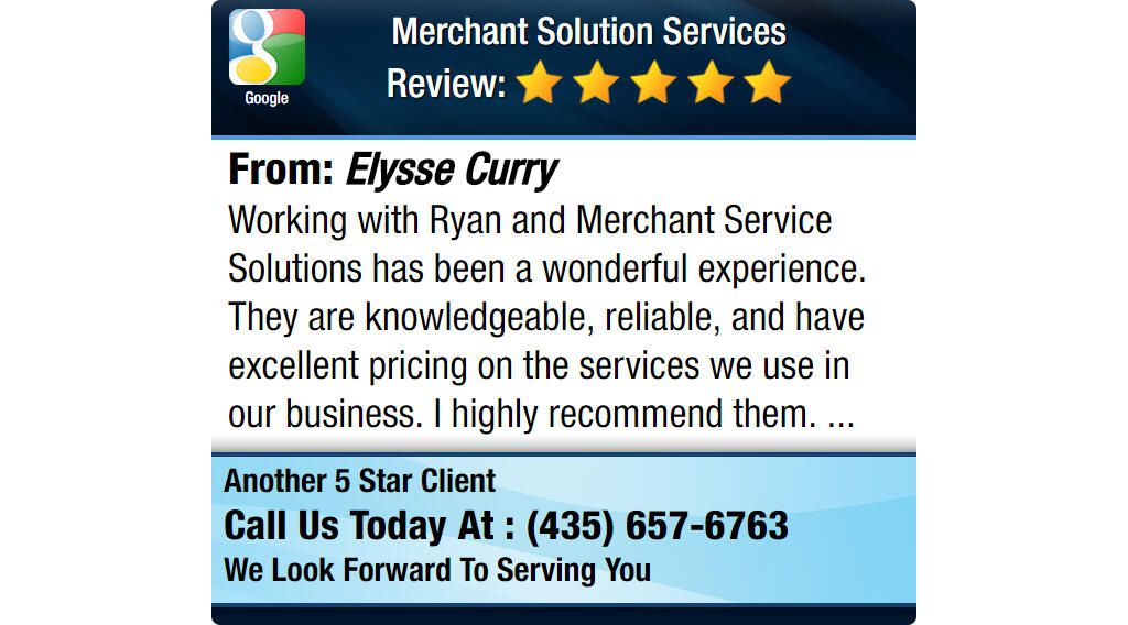 Working with Ryan and Merchant Service Solutions has been