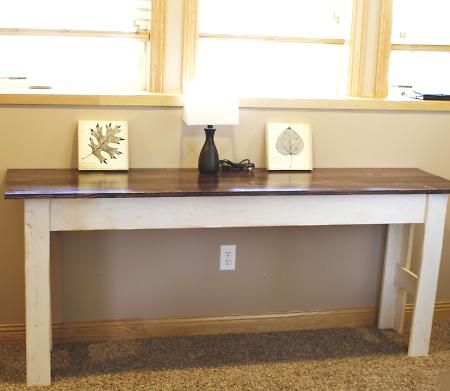 console tables - White Sofa Table