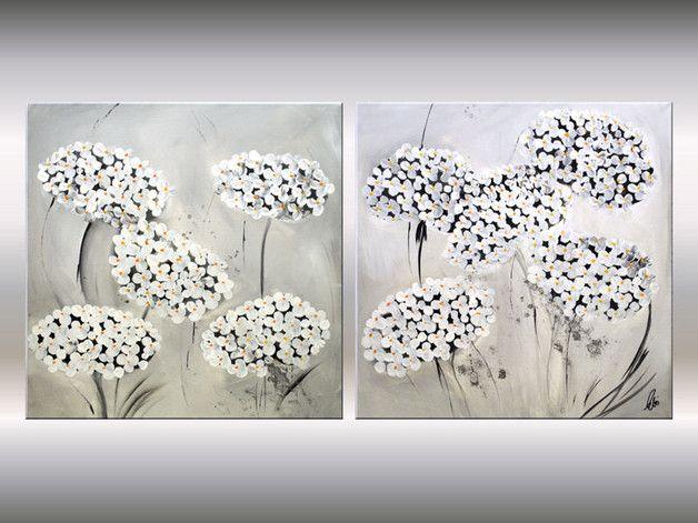 harmonie in weiss acrylbild im grossformat auf leinwand bereits fertig keilrahmen aufgezogen die fur acrylmalerei verwendeten farben sind frei etsy versandkostenfrei foto mit rahmen