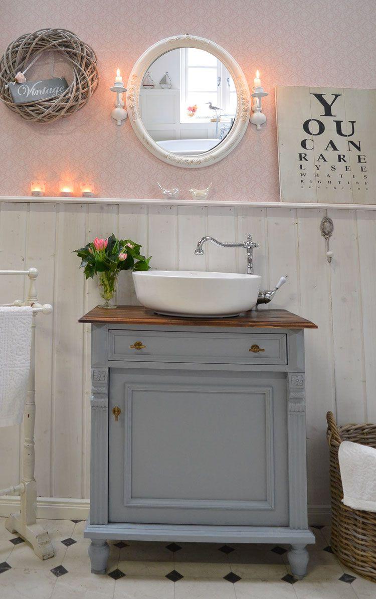 Lykke Landhaus Waschtisch Von Badmobel Landhaus Land Und Liebe In 2020 Waschtisch Landhaus Waschtisch Badezimmer Einrichtung