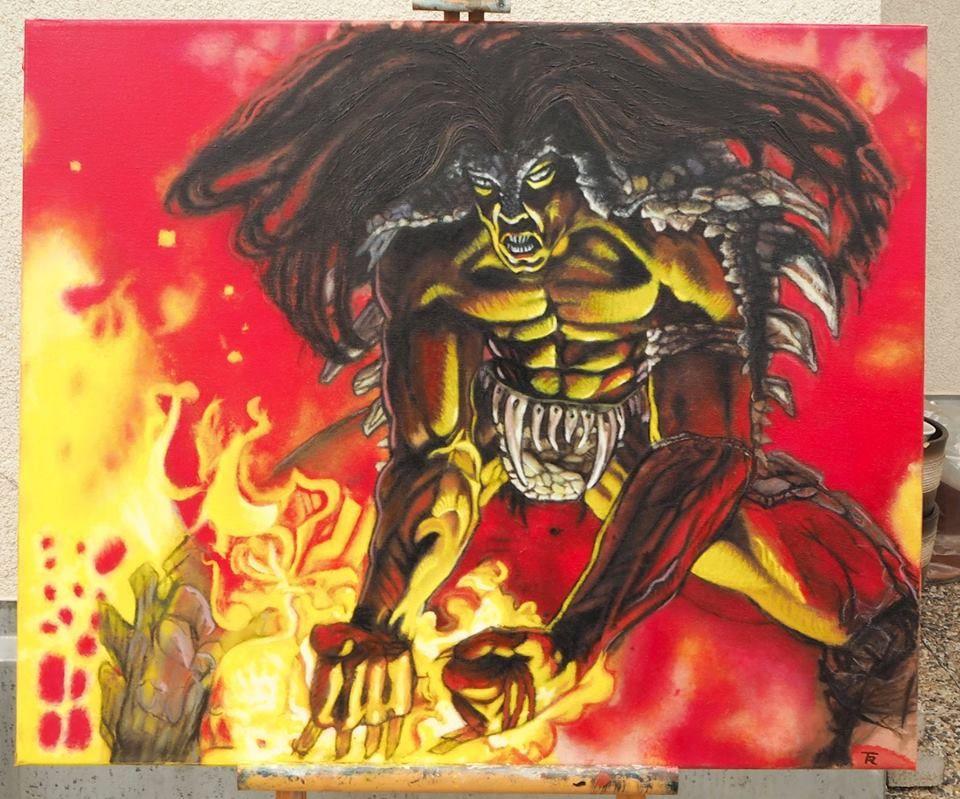Olej Na Platne 50x60cm Reprodukce Force Of Will Mtg Art Magic Art Mtg