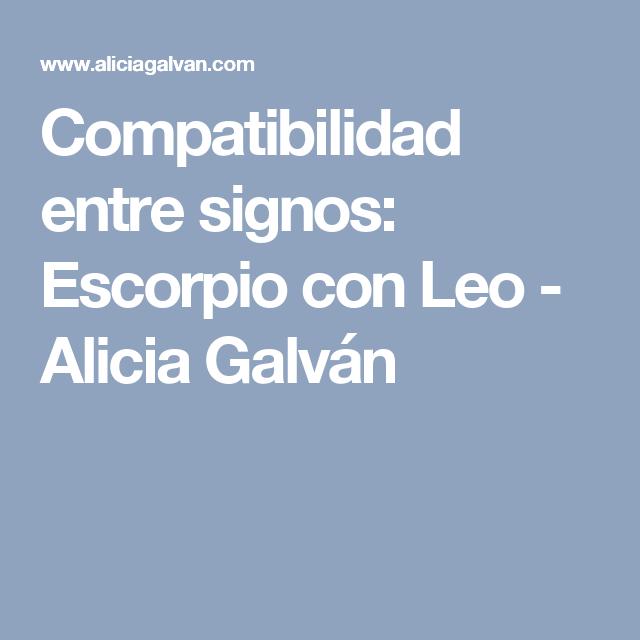 Compatibilidad entre signos: Escorpio con Leo - Alicia Galván