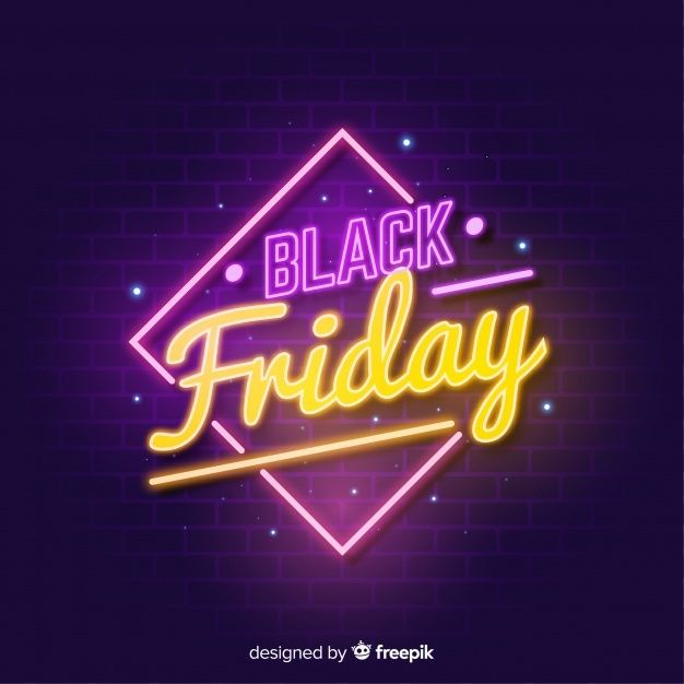 Free Black friday sale neon sign background SVG DXF EPS PNG
