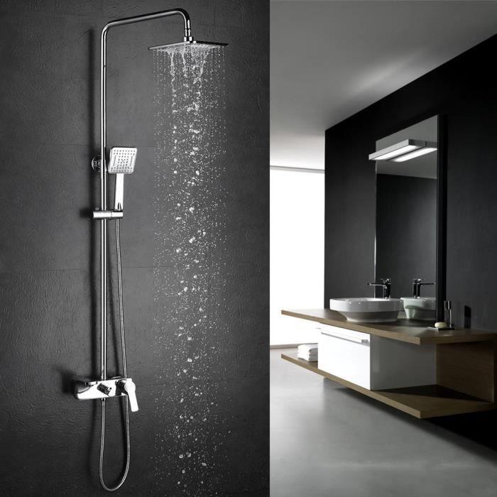 colonne de douche homelody colonne de douche carr robinet pommeau douchette in. Black Bedroom Furniture Sets. Home Design Ideas