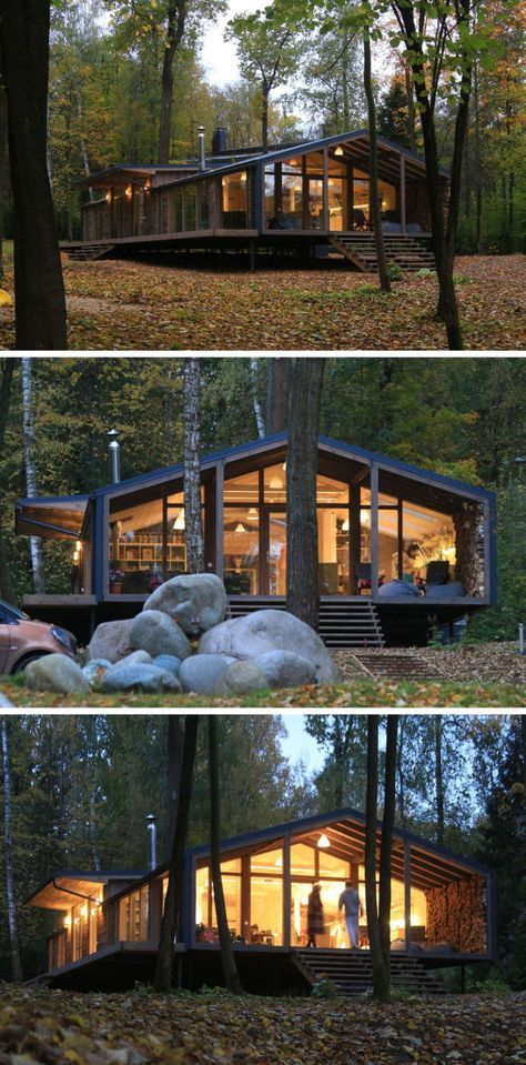 Fantastisch This Rustic Modern House In The Forest Was Designed For A Family In Russia  | Home | Pinterest | Haus, Zuhause Und Architektur