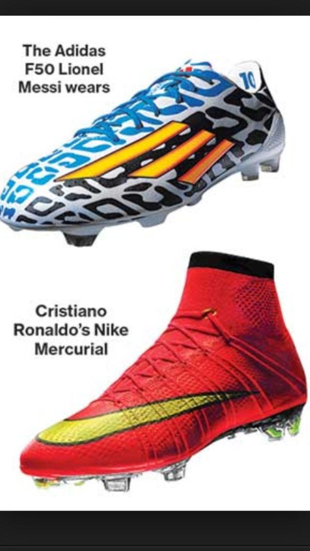 711917356c0c7c Messi and Ronaldo s cleats