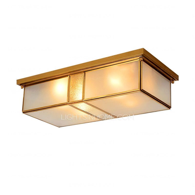 Traditional Rectangular Type 2 Light Flush Mount Ceiling Lights Kitchen Lighting Playroom