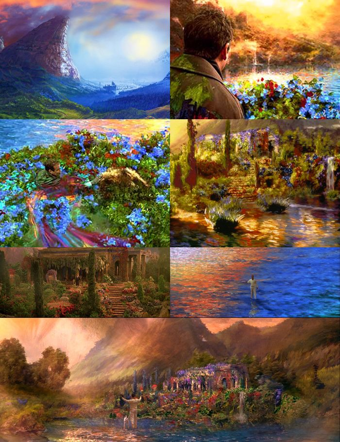 """What Dreams May Come Painting : dreams, painting, Favourite, Movies, Dreams, """"When, Young,, Beautiful, Lake"""", Come,, Favorite, Movies,, Inspiration"""