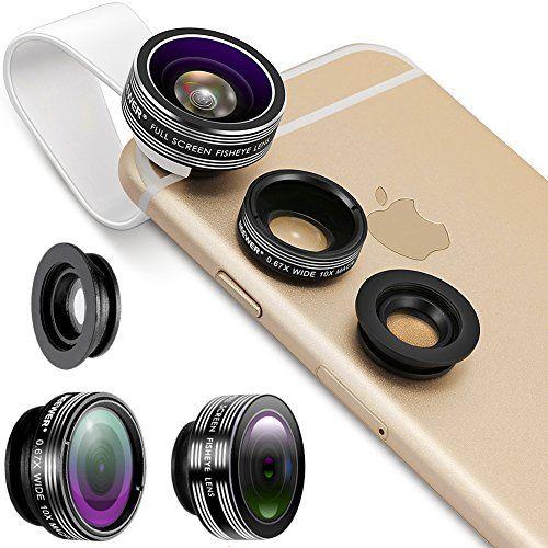 Neewer® 3 In 1 Lens Kit Clip-On 180 Degree 3 Element 3 Group - 2 1 degree