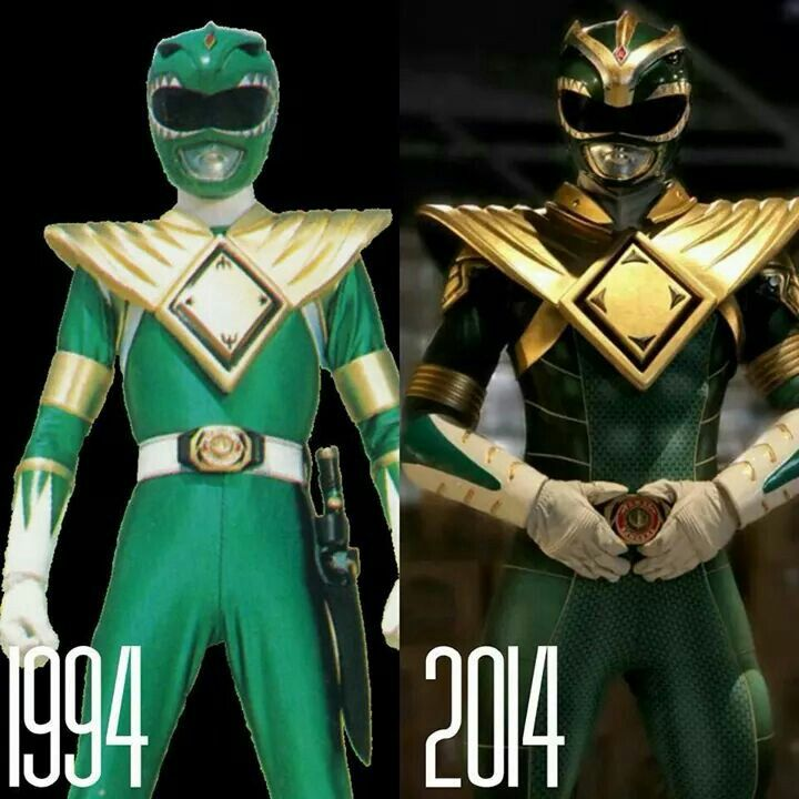 Then and now Green Ranger the now is from super power beat