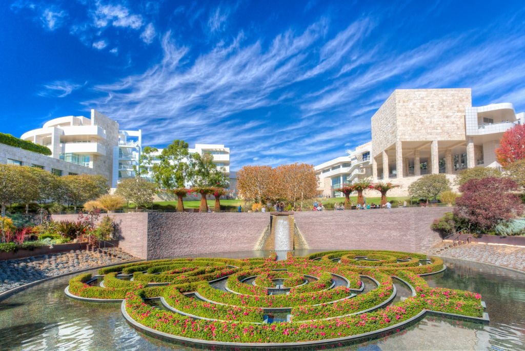 Central Garden at the Getty Center, LA jigsaw puzzle in Waterfalls puzzles on TheJigsawPuzzles.com