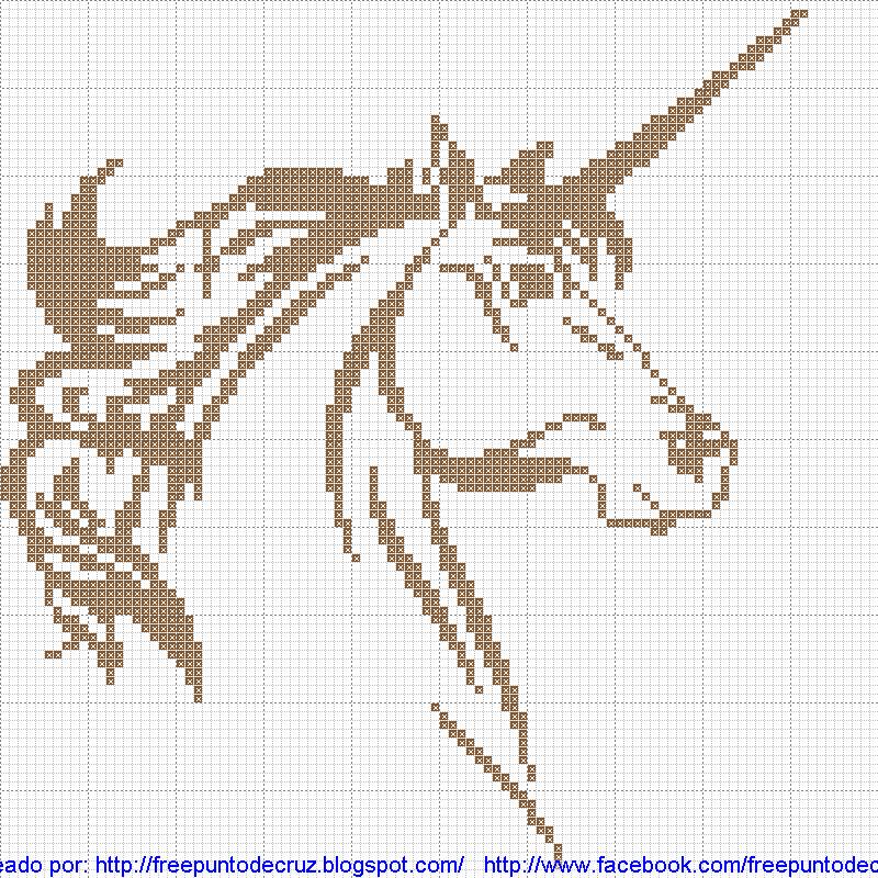 Unicornio en patrones punto de cruz partron | Dibujos Punto de Cruz ...