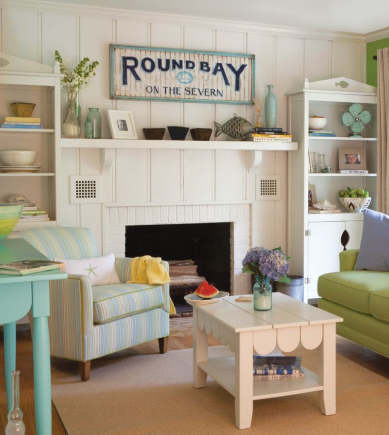 Pin By Amber Couch On Summer Decor Beach Living Room Vintage
