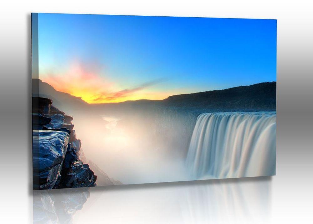 Naturbilder - Landschaft - Island - Bild - Wasserfall - Steine ...