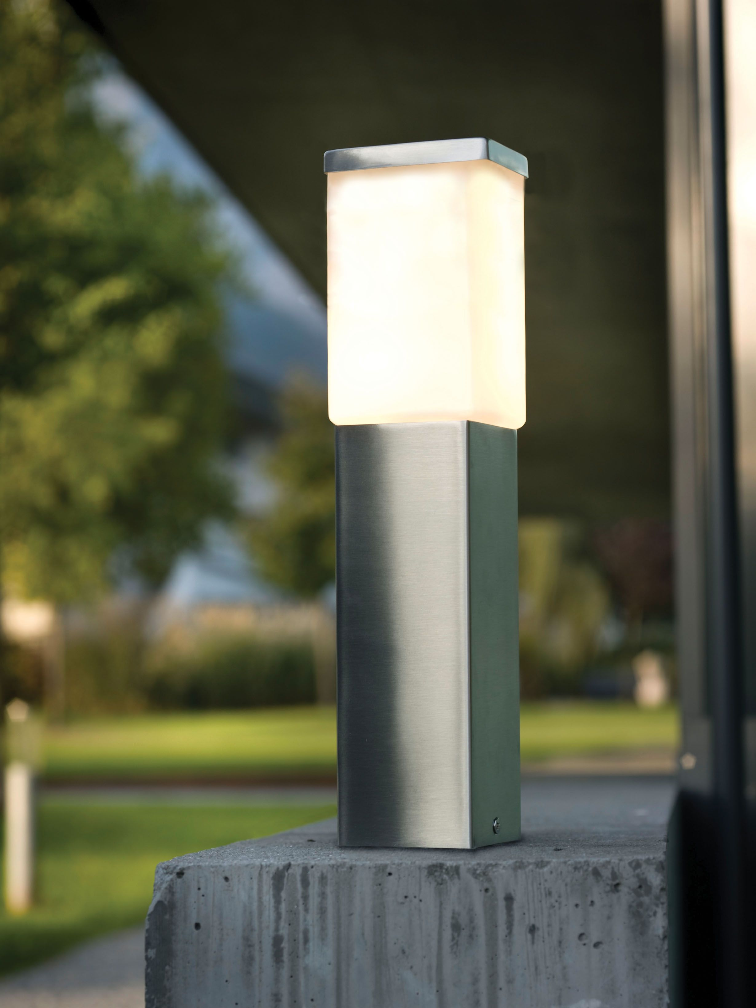 eglo 86388a calgary stainless steel outdoor post light outdoor