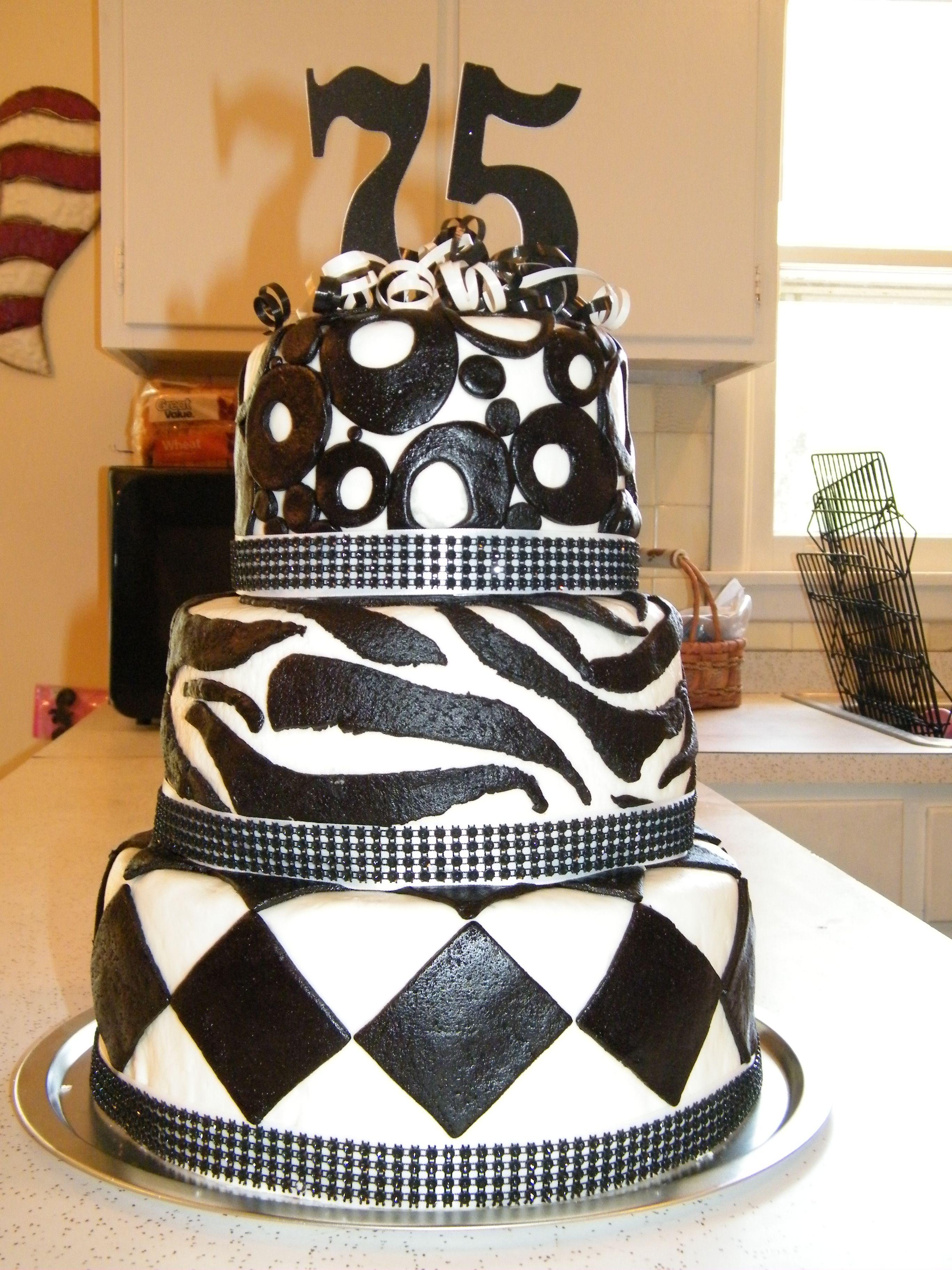 75th Birthday Cake cakes Pinterest 75th birthday cakes