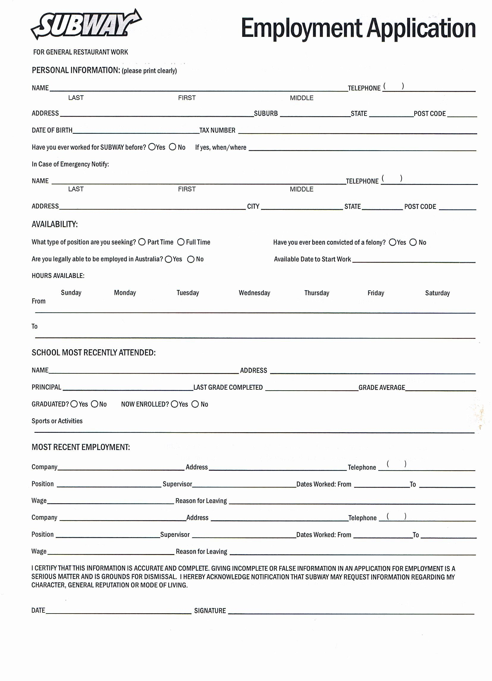 40 Jobs Application form Pdf in 2020 Employment
